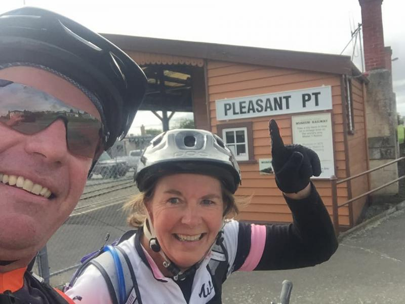 Just hanging out at Pleasant Point Railway Station, not far to go now on the Tour De Coffee Culture in Timaru.